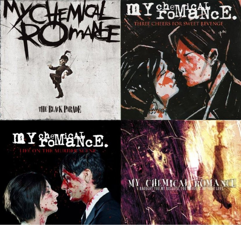 my_chemical_romance_albums_by_elipsia_nightshadow