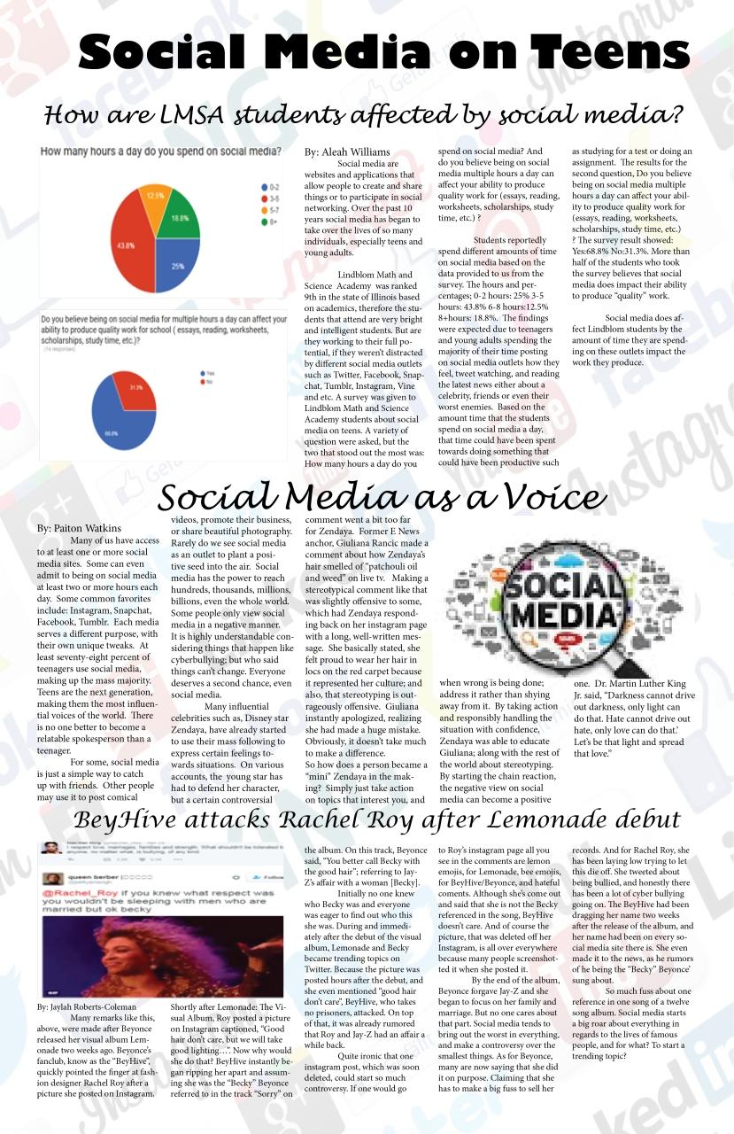 social media on teens ( Aleah, Jaylah and Paiton)